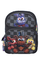 "Five Nights at Freddy's 16"" Large School Backpack Boy Black Backpack NEW!"