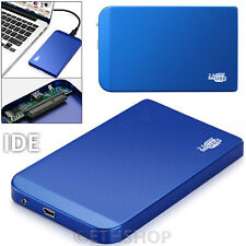"Aluminum 2.5""IDE to USB 2.0 Hard Drive Disk HDD External Enclosure Case Mobile"