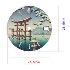 Seiko Custom Japanese Winter Scene Gloss Dial for Seiko NH35 7S36 4R15 Watches