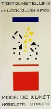 Tentoonstelling Voor De Kunst Poster Fine Art Lithograph Bart van der Leck S2