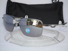 OAKLEY POLARIZED TAILBACK AVIATOR SUNGLASSES OO4109-03 Titanium Ti Iridium Polar