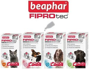 Beaphar FIPROtec COMBO Flea & Tick Spot On For Small,Medium,Large Dogs & Cats