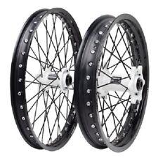 Tusk Wheel Set White Hubs Wheels 19/21 YZ125 YZ250 WR250F WR450F YZ250F YZ450F
