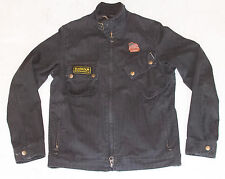 Rare Barbour International Steve McQueen Collection Black Cotton Canvas Jacket S