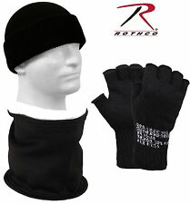 Black Winter Hat, Neck Warmer & Gloves 3 Pack Rothco Lot of 3 Cold Weather Pack