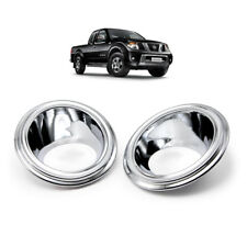 Fits Nissan Frontier Navara D40  2007 2010 Chrome Fog Lamp Spot Light Cover
