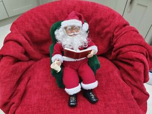 """Avon Vintage Story Telling Santa Father Christmas Fully Working with 3 """"books"""""""