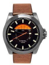 Diesel Men's Brown Leather Watch, 46mm Case, 100 Meter WR, Date,    DZ1660