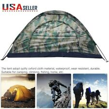 Portable One Person Folding Tent Outdoor Camping Hiking Waterproof Camouflage