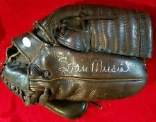 1960s STAN MUSIAL Signed 2x Baseball Game GLOVE JSA vtg St Louis Cardinals Team
