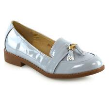 Womens Loafers Flat Black Tassel Ladies Casual Work School Shoes Pumps Size 3-8