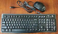 "KIT TASTIERA E MOUSE ""Logitech"" PER PC USB 2.0 TASTI ALFABETICI + NUMERICI"