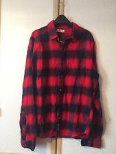 Hollister homme en pur coton bleu & rouge écossais à Carreaux Chemise en flanelle Taille XL Bnwt