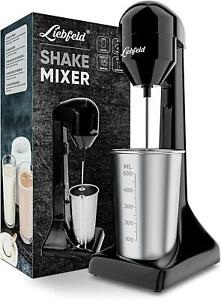 Liebfeld - Shake Mixer I Eiweiß Shaker elektrisch für Shakes wie im Fitnessstud