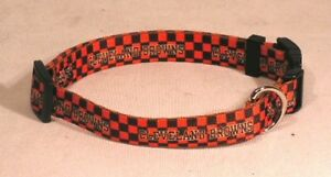 Cleveland Browns (X-Small adjustable 8.5 -11.75 inch) Nylon Pet Dog Collar