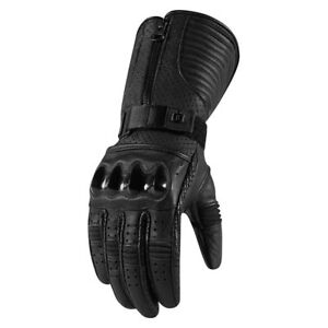 Icon 1000 Womens Fairlady Leather Motorcycle Gloves All Sizes