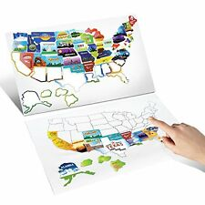 RV Motor Home Camper USA State Road Map Sticker Decal - 21'' by 15'' - A Trav...