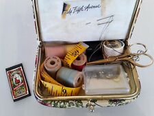 Vintage Assorted Sewing Supplies Needles Thread Clasps SAKS FIFTH AVENUE PURSE
