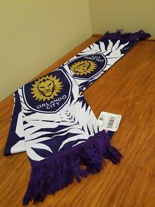 Adidas Orlando City MLS Team Sublimated Scarf - Purple / White