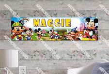 Personalized/Customized Mickey Mouse #2 Name Poster Wall Art Decoration Banner