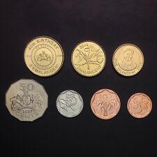 S2]Swaziland Set 7 Coins, 5, 10, 20, 50 Cents,1, 2, 5 Emalangeni, 2007-2011, Unc
