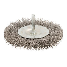 100mm Rotary Stainless Steel Wire Wheel Brush Use With Drills Deburring Cleaning