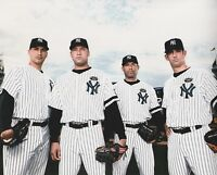CORE 4 NEW YORK YANKEES JETER/POSADA/RIVERA/PETTITTE UNSIGNED 8x10 PHOTO
