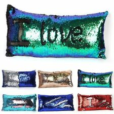 Magic Mermaid Pillow Cases Reversible Sequin Glitter Sofa Cushions Cover Touch
