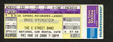 2000 Bruce Springsteen unused concert ticket Sunrise Fl Reunion Tour Born To Run
