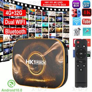HK1 R1 4+32G Android 10.0 5G WIFI BT Quad Core 4K TV BOX USB3.0 H.265 RK3318 3D