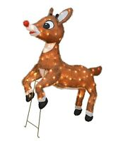 "Rudolph the Red-Nosed Reindeer 36"" Animated Outdoor Christmas Decor Yard Art"