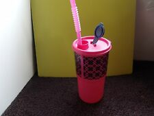 Tupperware Thirstquake Tumbler 30 oz. Pretty Pink / Seal & Straw All NEW