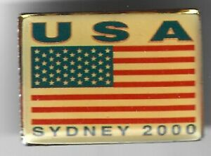 2000 Sydney Olympic Pin USA Flag