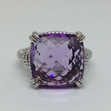 JUDITH RIPKA Ring, Amethyst and Stg Silver Size 7 N1/2 New Retired.
