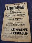 """"""" Partitur FEHLER Du Cousin Camille Stefany 1929 Music -blatt """""""