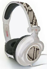 Maxell 190228 Amplified Black/White Python Headphones - White Band Brand New