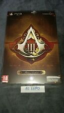 ASSASSIN'S CREED 3 FREEDOM EDITION PS3 SONY NEUF SOUS BLISTER VERSION FRANCAISE