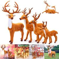 New Christmas Deer Reindeer Santa Craft Elk Xmas Home Tree Decor Ornament Supply