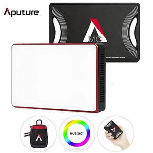 Aputure AL-MC LED 3200K-6500K RGBWW light HSI/CCT/FX Video Multi Color Mini LED