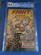 FIGHT COMICS #63 Tiger Girl, CGC FN- 5.5, Kamen-c/a, Fiction House (1949)