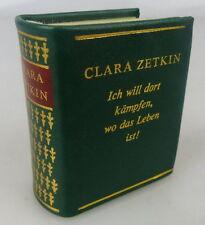 Minibuch: Clara Zetkin, Dietz Verlag Berlin 1986, Buch1481