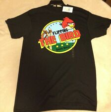 Authentic Angry Birds Men's Shirt Flipping The Bird T-Shirt Size Medium NEW
