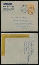 GOLD COAST TAMALE POSTMARK on KG6 AEROGRAMME STATIONERY 6d to PAWTUCKET 1952