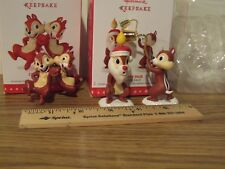 Hallmark 2016 A Merry Pair & 2015 Chip and Dale - a Limited Edition Ornament