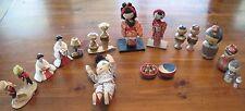 Vintage Lot Japanese Dolls Kokeshi, Ceramic, Geisha, Nodders, Carved, Soft Baby