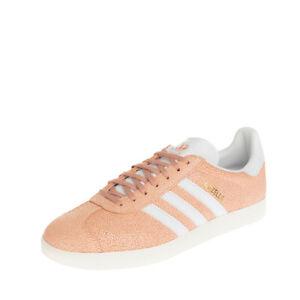 ADIDAS ORIGINALS GAZELLE Leather Sneakers EU 44 UK 9.5 US 11 Cracked Effect