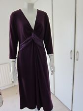 Windsmoor Burgundy Formal/party Midi Length Dress With Sequins Size 16
