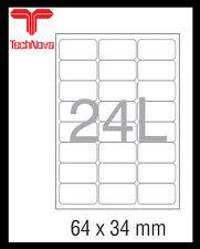 NovaJet Multipurpose Label 24L - 64 x 34 WR for Inkjet / Laser printer A4 Sheet