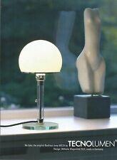 TECNOLUMEN The original Bauhaus lamp WG 24 - 2015 Print Ad