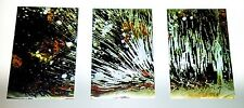Luxury Metal Tryptych Abstract Fine Art Picture